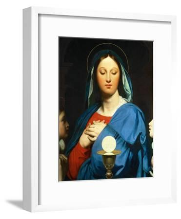 The Virgin Mary Prays to the Host, 1866-Jean-Auguste-Dominique Ingres-Framed Giclee Print