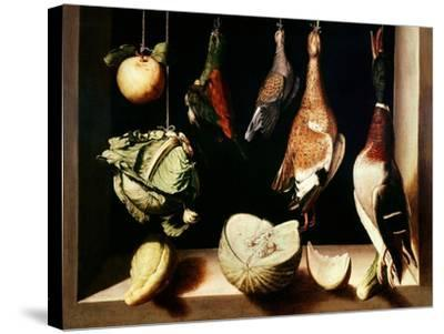Still-Life with Game Fowl, 1600-1603-Juan Sanchez Cotan-Stretched Canvas Print