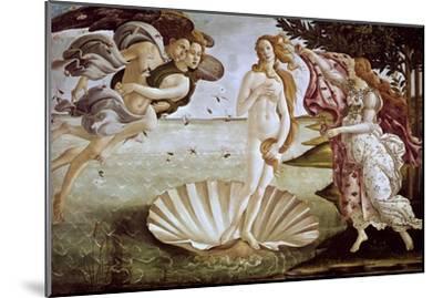 The Birth of Venus, Ca. 1485-Sandro Botticelli-Mounted Giclee Print
