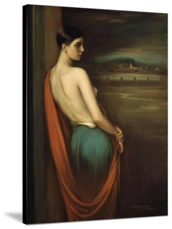 On the River Bank, 1928-Julio Romero de Torres-Stretched Canvas Print
