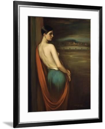 On the River Bank, 1928-Julio Romero de Torres-Framed Giclee Print