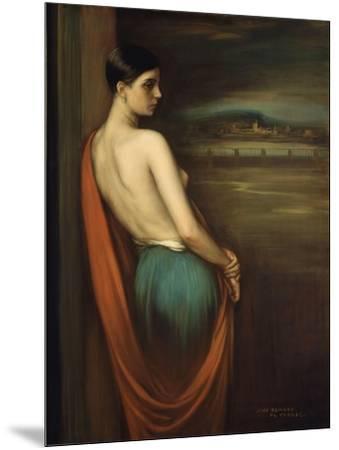 On the River Bank, 1928-Julio Romero de Torres-Mounted Giclee Print