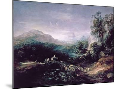 Landscape with Bridge-Thomas Gainsborough-Mounted Giclee Print