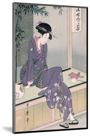Mujer Sentada En Una Veranda, Ca. 1798-Kitagawa Utamaro-Mounted Giclee Print