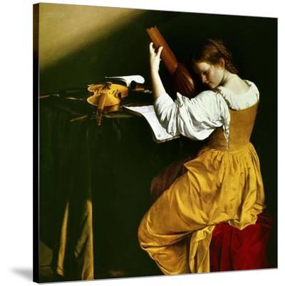 Lute Player, C. 1626-Orazio Gentileschi-Stretched Canvas Print