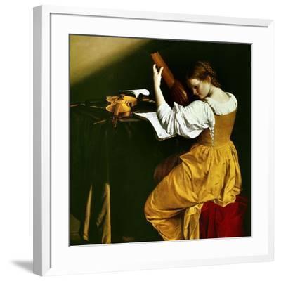 Lute Player, C. 1626-Orazio Gentileschi-Framed Giclee Print