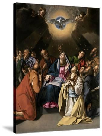 Pentecost, 1615-1620-Juan Bautista Mayno-Stretched Canvas Print