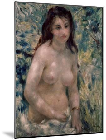 Study. Torso, Effect of Sunlight, Ca. 1875-1876-Pierre-Auguste Renoir-Mounted Giclee Print