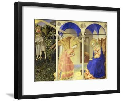 The Annunciation, 1426-1428-Fra Angelico-Framed Giclee Print