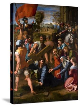 Christ Falls on the Way to Calvary, 1515-1516-Raphael-Stretched Canvas Print