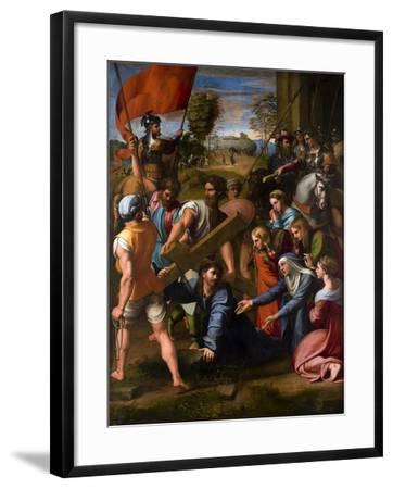 Christ Falls on the Way to Calvary, 1515-1516-Raphael-Framed Giclee Print