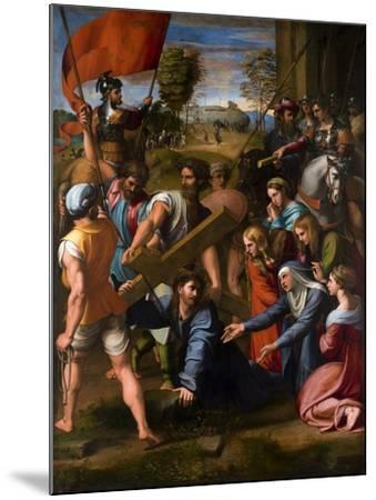 Christ Falls on the Way to Calvary, 1515-1516-Raphael-Mounted Giclee Print