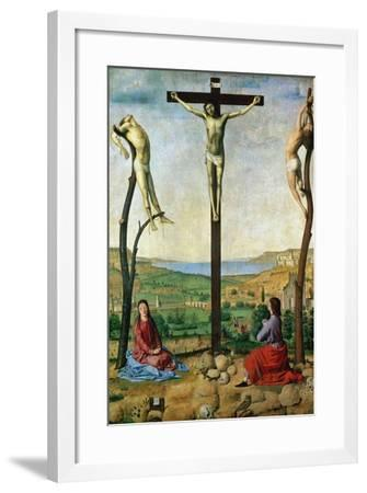 The Antwerp Crucifixion, 1454-1455-Antonello da Messina-Framed Giclee Print