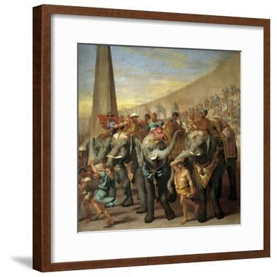 Elephants in a Roman Circus, Ca. 1640-Andrea Di Lione-Framed Giclee Print