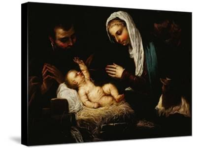 The Holy Family-Jacopo Robusti Tintoretto-Stretched Canvas Print