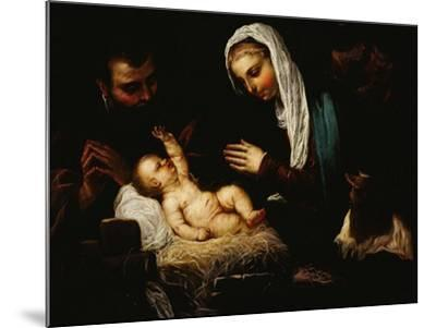 The Holy Family-Jacopo Robusti Tintoretto-Mounted Giclee Print