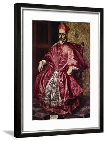 Cardinal Fernando Nino De Guevara, Ca.1601-El Greco-Framed Giclee Print