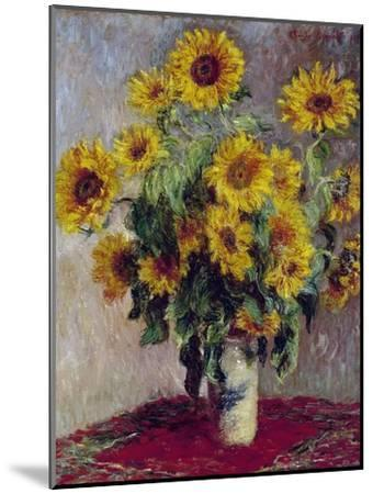 Still Life with Sunflowers, 1880-Claude Monet-Mounted Giclee Print