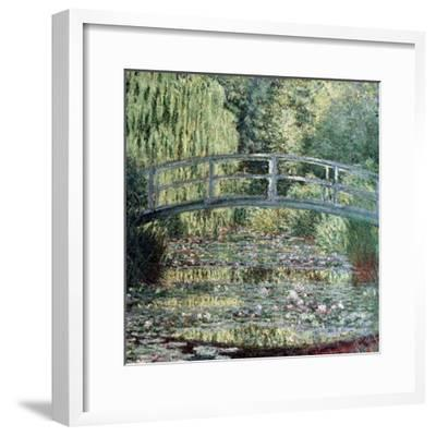 The Waterlily Pond: Green Harmony, 1899-Claude Monet-Framed Giclee Print