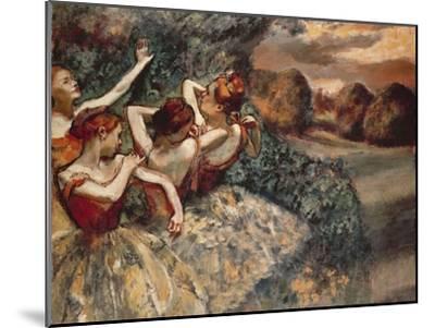 Four Dancers, 1899-Edgar Degas-Mounted Premium Giclee Print