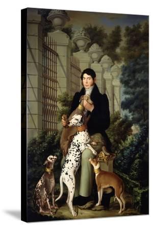Cuidador De Los Perros De Aranjuez-Francisco Lacoma Y Fontanet-Stretched Canvas Print