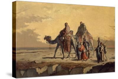 Desert Scene, C. 1863-Francisco Lameyer-Stretched Canvas Print