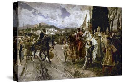 The Surrender of Granada in 1492-Francisco Pradilla Y Ortiz-Stretched Canvas Print