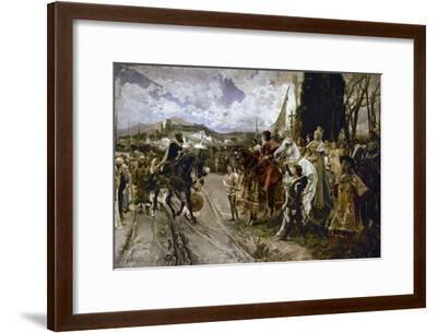 The Surrender of Granada in 1492-Francisco Pradilla Y Ortiz-Framed Giclee Print
