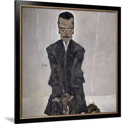 Portrait of the Publisher Eduard Kosmack, 1910-Egon Schiele-Framed Giclee Print