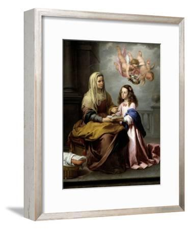 Saint Anne with the Virgin, Ca. 1655-Bartolome Esteban Murillo-Framed Giclee Print