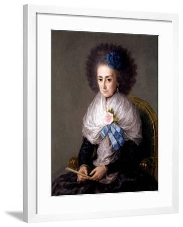 María Antonia Gonzaga, Marchioness Widow of Villafranca, Ca. 1795-Suzanne Valadon-Framed Giclee Print