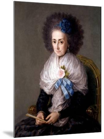 María Antonia Gonzaga, Marchioness Widow of Villafranca, Ca. 1795-Suzanne Valadon-Mounted Giclee Print