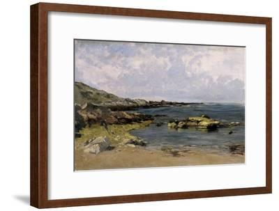 Low Tide (Guethary), Ca. 1881-Carlos de Haes-Framed Giclee Print