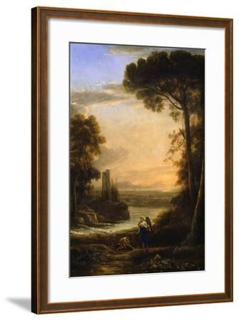 The Archangel Raphael and Tobias, 1639-1640-Claude Lorraine-Framed Giclee Print