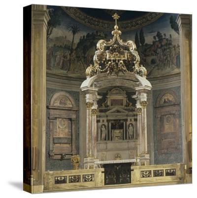 Church of the Holy Cross of Jerusalem-Domenico & Pietro Gregorini & Passalacqua-Stretched Canvas Print