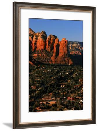 Morning Sunlight on the Red Rocks Rock Formation-Babak Tafreshi-Framed Photographic Print
