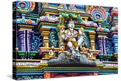 An Intricate Colorful Statue of Shiva at a Hindu Temple-Jason Edwards-Stretched Canvas Print