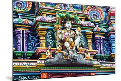 An Intricate Colorful Statue of Shiva at a Hindu Temple-Jason Edwards-Mounted Photographic Print
