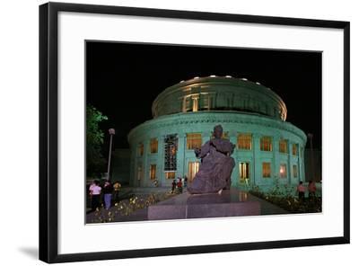 A Statue of Armenian Composer Aram Khachaturian at the Opera House Bearing His Name-Babak Tafreshi-Framed Photographic Print
