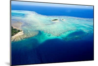 Coral Reefs Stretch Out from the Shoreline of a Tropical Island-Jason Edwards-Mounted Photographic Print