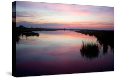 Chincoteague Bay Sunset, Taken from Assateague Island, Maryland-Vickie Lewis-Stretched Canvas Print