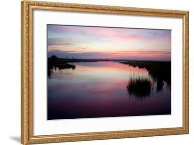 Chincoteague Bay Sunset, Taken from Assateague Island, Maryland-Vickie Lewis-Framed Photographic Print