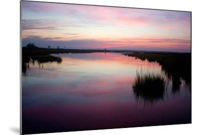 Chincoteague Bay Sunset, Taken from Assateague Island, Maryland-Vickie Lewis-Mounted Photographic Print