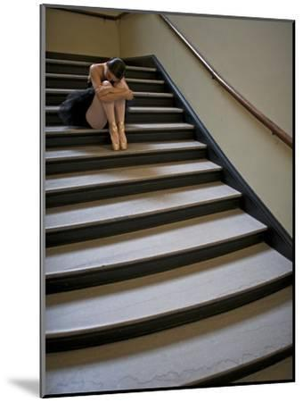 A Ballerina Resting in a Stairwell-Kike Calvo-Mounted Photographic Print