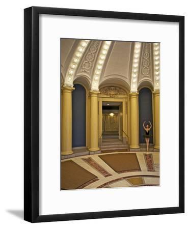 Classic Ballerina Dancing in a Rotunda-Kike Calvo-Framed Premium Photographic Print