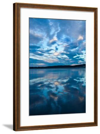 Clouds Reflect Off the Wet Sand on a Wide Beach-Vickie Lewis-Framed Photographic Print