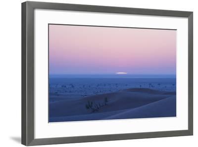 Sunrise over the Sand Dunes of the Rub' Al Khali, the Empty Quarter, Oman-Bill Hatcher-Framed Photographic Print