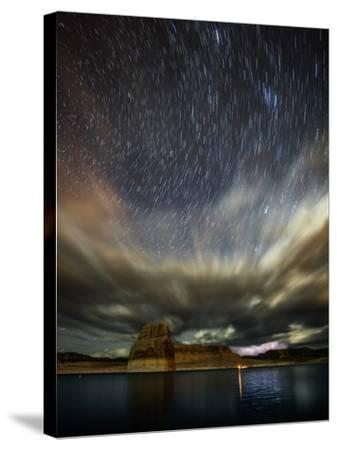 Storm Clouds, Lightning, and Star Trails over Lake Powell, a Reservoir on the Colorado River-Babak Tafreshi-Stretched Canvas Print