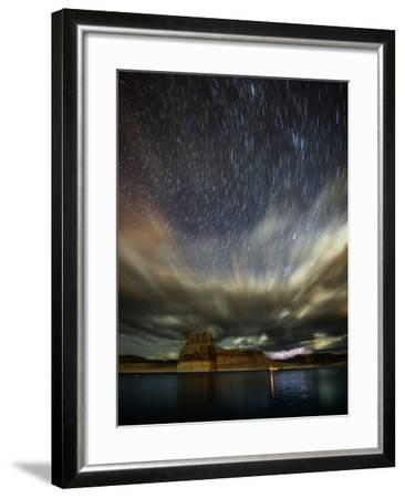 Storm Clouds, Lightning, and Star Trails over Lake Powell, a Reservoir on the Colorado River-Babak Tafreshi-Framed Photographic Print