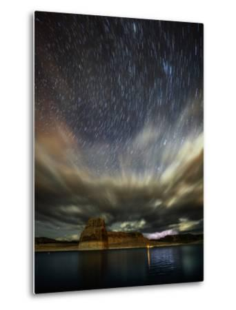 Storm Clouds, Lightning, and Star Trails over Lake Powell, a Reservoir on the Colorado River-Babak Tafreshi-Metal Print